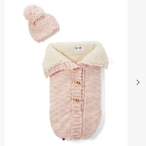 nygb Matching Sets - NYGB sherpa knit snuggle and beanie new born